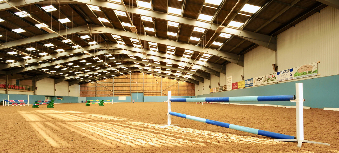 equestrian arena at easton college