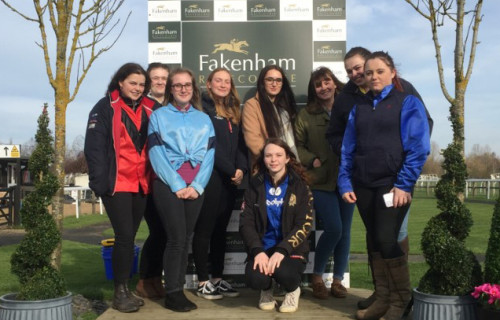 Equine students at Fakenham Racecourse