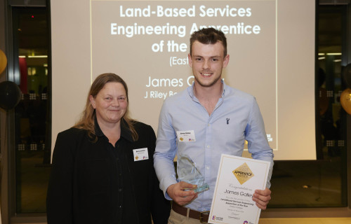 Web James Galley Land Based Services Engineering Apprentice of the Year Photo credit ANDI SAPEY