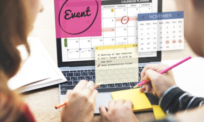 People planning an events calendar